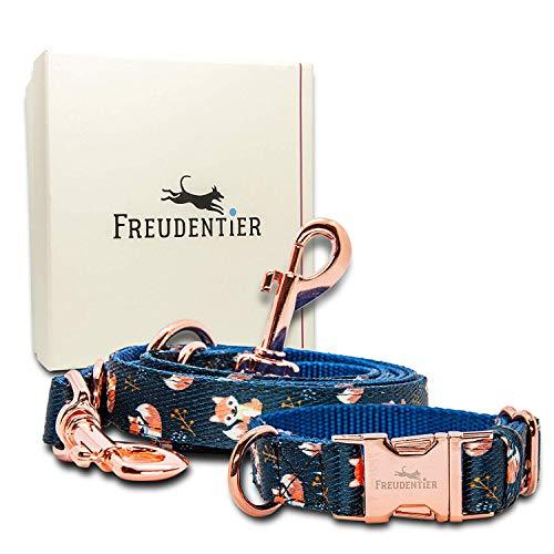 Freudentier Hundehalsband & Hundeleine (2m) für kleine… | 04260492260184
