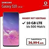 Samsung Galaxy S10 Handy (128 GB, mit Vertrag, 10 GB LTE, 24 Monate Mindestlaufzeit) prism black