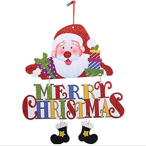 Porta natale appesi benedizione ornamento di natale del pupazzo di neve old man decor per la casa-santa claus