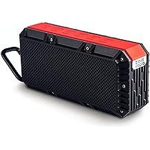 Travel Inspira - Altavoz portátil Bluetooth 4.0 con Subwoofer Incorporado, 10 Vatios de Potencia, Resistente al Agua IPX6, 2200 mAh, Batería Recargable, 15 Horas de Reproducción