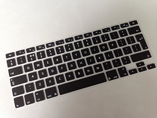 "Silicone Keyboard Skin cover for UK Apple 13''15"" Macbook Pro with Retina display Test"