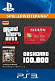 Grand Theft Auto Online | GTA V Red Shark Cash Card | 100,000 GTA-Dollars | PS3 Download Code für deutsches Konto