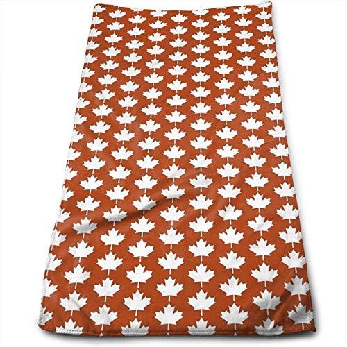 Jhonliy Canada Maple Leaf Flag Emblem Multipurpose Soft Polyester Lightweight Hand Towel for Bath, Pool, Beach, Travel Towel,Bath Sheet, 40cm X 70cm -