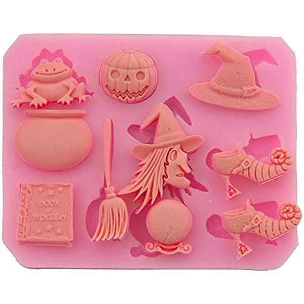 f/ür fl/üssige Schokolade und Kuchen Pink Fablcrew Silikonform Halloween