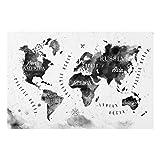 Bilderwelten Spritzschutz Glas - Weltkarte Aquarell schwarz - Quer 2:3, Größe HxB: 40cm x 60cm