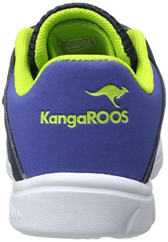 KangaROOS Unisex-Kinder Inlite 4003 Low-Top Blau (Dk Navy/Lime)
