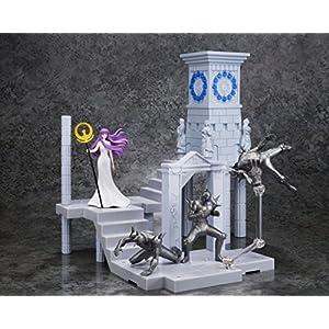 BANDAI- Atenea Diosa y Extension Set Reloj Santuario, Figura de 10 cm, Saint Seiya DD Panoramation (BDISS128496)