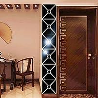 Moginp Wandaufkleber,Blume Vogel Muster Moderner Spiegel Wandsticker  Entfernbarer Abziehbild Wand Aufkleber Ausgangsraum DIY (