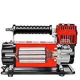 BCCDP Compressori Portatili per Auto | Compressore d'Aria da 160 L/Min 12V con Contatore Digitale, 2 Ugelli/Adattatore per Auto, Moto, Palline