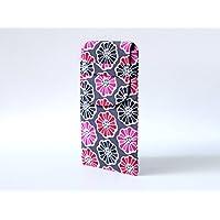 Housse Iphone 6 et 7 plus étui portable tissu coton imprimé petites fleurs rose rouge gris fait main cousu main handmade idée cadeau de noël téléphone smartphone