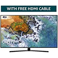 Samsung 50NU7400 50-Inch Dynamic Crystal Colour Ultra HD Smart 4K TV - Charcoal Black (2018 Model) + FREE Amazon High-Speed 0.9M HDMI 2.0 cable