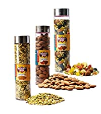 Roastway Foods Roasted Almonds and Dry Fruits Trails Mix and Premium Seeds Mix
