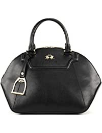 LA MARTINA La Portena Medium Bugatti Bag Black