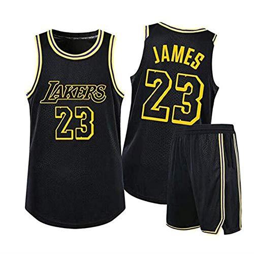 YB-DD Jungen Mädchen Männer Erwachsene Los Angeles Lakers # 23 Lebron James Swinger Jersey, Basketball-Trikots Sommer Anzüge Kits Top + Shorts 1 (S - 2XL),M(65kg~75kg)