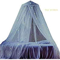 Mosquito Nets with Lights LYH Glow in Dark with 80 Luminous Stars Bed Canopy Mosquito Net Netting