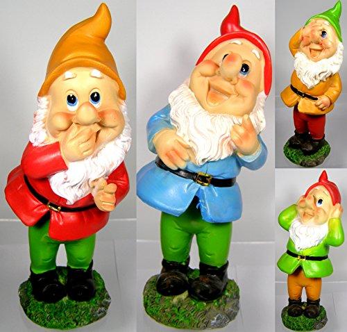 Wackel Gartenzwerg - Garten Dekoration - Zwerg - Wobbling - Wackelzwerg - 23cm (Alle 4 Zwerge)