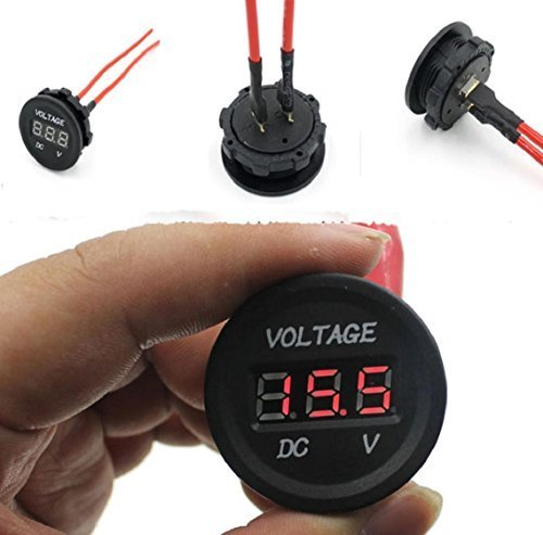 Voltmeter Kolylong® 12V-24V Auto Motorrad Rot LED DC digitale Anzeigen Wasserdicht Voltmeter