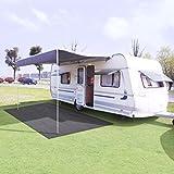 Tidyard Tapis de Camping | Tapis de Tente | Tapis de Sol pour Camping Randonnée 250 x 200 cm Anthracite