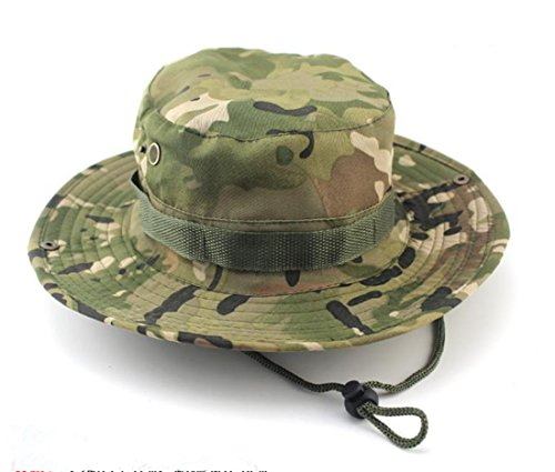 Westeng Boonie Sombrero Pescador Redondeadas protección Solar Sombrero al  Aire Libre Escalada Selva Hombres Mujeres táctica 73bcc8b0467