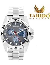 Tarido New Style Grey Dial Analog Wrist Watch For Men/Boy