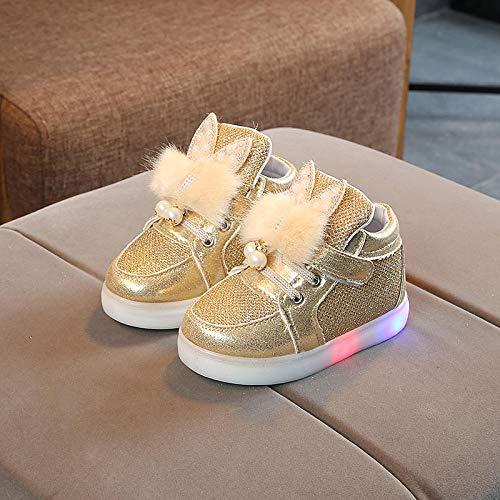 BurgessJosh Kinder LED Schuhe - Licht Auf Casual Schuhen Mode Atmungsaktives Mesh Blinkende Turnschuhe Ausbilder Outdoor Schuhe Für Die Jungen Mädchen -