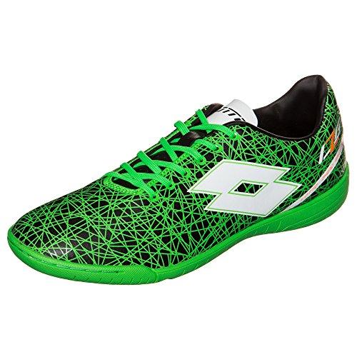 Lotto zhero gravity vII 700 indoor chaussures de football pour homme noir