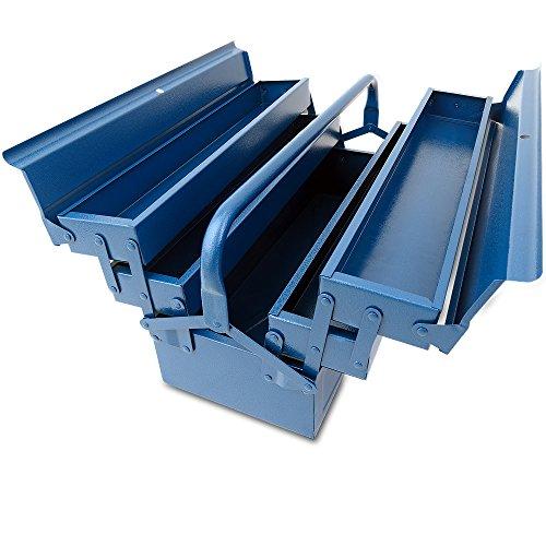 Werkzeugkoffer leer groß ✔ Stahl ✔ 5-teilig ✔ Deuba® - Werkzeugkasten Werkzeugbox Werkzeugkiste Werkzeug Montage Koffer - blau - 580x220x210mm - 2