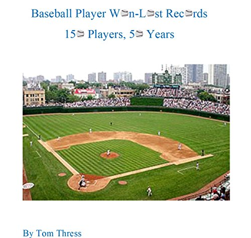 Baseball Player Won-Lost Records: 150 Players, 50 Years (English Edition) por Tom Thress
