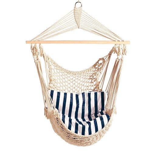 fauteuil-hamac-a-suspendre-avec-coussin-100-coton-garniture-100-polyester-blanc-et-bleu-110-x-100-cm