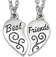 ▲ Collana Best Friends - Migliori Amici/Amiche ( Cuore Motivo Inciso - 2 Pezzi )