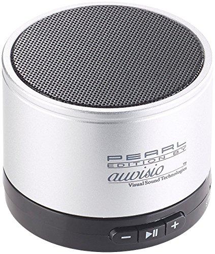 auvisio Handylautsprecher: Mobiler Aktiv-Lautsprecher mit Bluetooth 2.1, Metallgehäuse, 4 Watt (Mini Lautsprecher, Bluetooth)