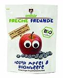 erdbär Freche Freunde 10er Pack Bio Fruchtchips 100% Apfel & Blaubeere, 16g