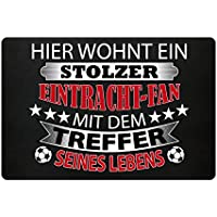 Hochwertige Fußmatte - HIER WOHNT EIN STOLZER EINTRACH-FAN