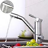 OBLLER 3 in 1 Küche Wasserfilter Armatur Drei-Wege Wasserhahn Osmose Anlage Tap Drehbar