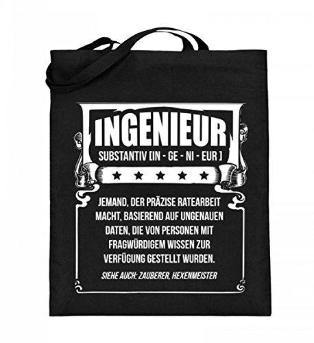 Chorchester Hochwertiger Jutebeutel (mit langen Henkeln) - Ingenieure oder Zauberer/Hexenmeister!