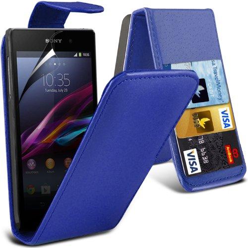 -blue-sony-xperia-z1-compact-high-quality-faux-cubierta-y-lcd-protector-de-pantalla-caja-de-la-piel-