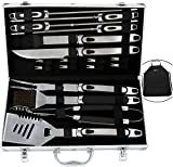 Best Bbq Tool Sets - Romanticist 20pcs Stainless Steel BBQ Grill Tool Set Review