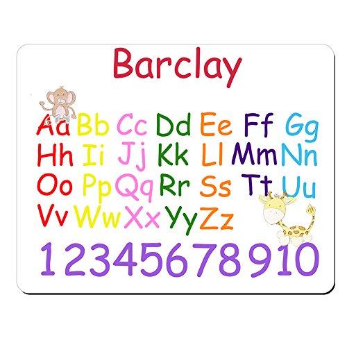 barclay-personnalisee-pour-enfant-alphabet-et-chiffres-educatif-premium-tapis-de-souris-5-mm-depaiss