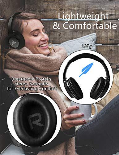Bluetooth Over-Ear Kopfhörer - Atuten Kabellos Faltbare Ohrhörer Stereo Gaming Headphone mit Mikrofon für Alle Geräte mit Bluetooth/3.5mm Klinkenstecker - Kompatibel mit IOS Android - 6