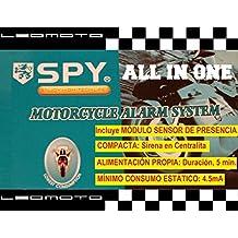"""Alarma de moto SPY """"ALL IN ONE"""". Compacta y autoalimentada"""