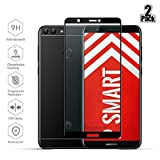 Huawei P Smart Screen Protector, Beyeah Full Coverage Tempered Glass Screen Protector for Huawei P Smart with [2.5D Round Edge] [9H Hardness] [Crystal Clear] [Scratch Resist] (Black)