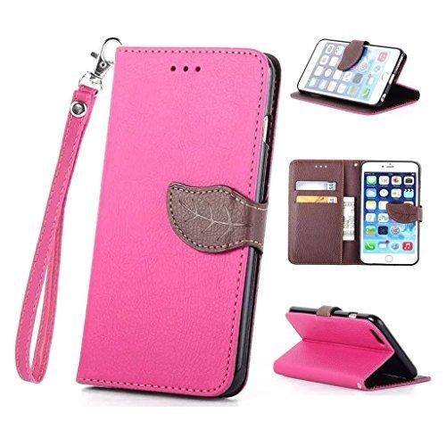 Nutbro [iPhone 5C] iPhone 5C Cases,iPhone 5C Case,Leather Case,Wallet Case,Wallet Leather Case Cover,Flipcase Wallet Carry Leather Skin Cover Case Pink