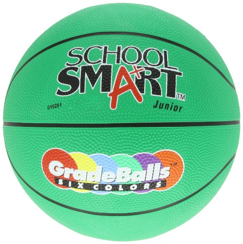 school-smart-gradeballs-rubber-basketball-junior-27-inch-green-by-school-specialty