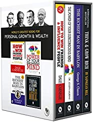 World's Greatest Books For Personal Growth & Wealth (Set of 4 Books): Perfect Motivational Gift
