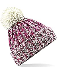 6d5d527e9f7 4sold Mens Womens Beanie Warm Winter Corkscrew Cable Knitted Bobble Hat  Plain Ski Pom Wooly Cap