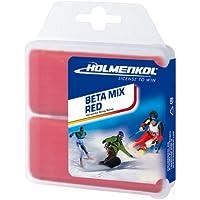 Holmenkol Betamix - Cera para esquís y Tablas de Snowboard (2 Unidades, 35 g), Color Rojo