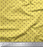 Soimoi Gelb Seide Stoff Pilz Gemuse Stoff Drucke Meter 42