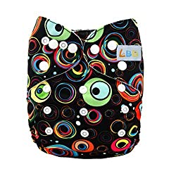 LBB(TM) Baby Resuable Washable Cloth Pocket Diaper,Colorful Bubble