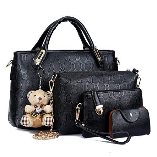 ZhengYue Damen Handtaschen Handtaschen Leder Frauen Handtaschen Set 4 teiliges Fashion Rucksack Damenhandtasche tasche taschen günstig beuteltasche günstige handtaschen