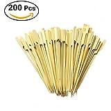 OUNONA Lot de 200 brochettes à apéritif en bambou 18 cm